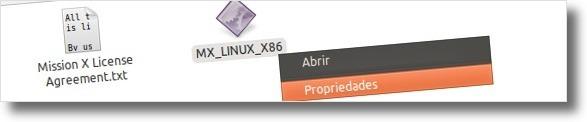 A abrir propriedades do ficheiro de instalação