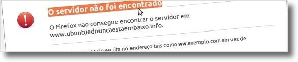 Erro padrão do Ubuntu