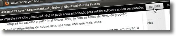 A permitir instalar através do Ubuntued