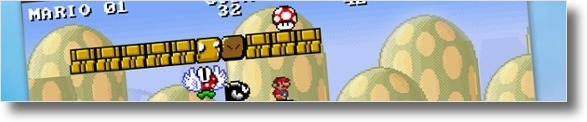Mario a apanhar o cogumelo