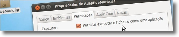 A definir ficheiro como executável