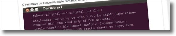 BinChunker a converter dois ficheiros, cue e bin, para um ficheiro final.iso