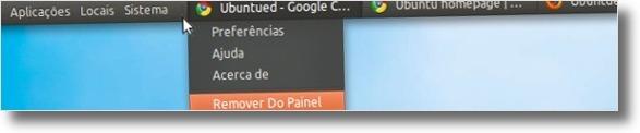 A remover lista das janelas padrão do Ubuntu