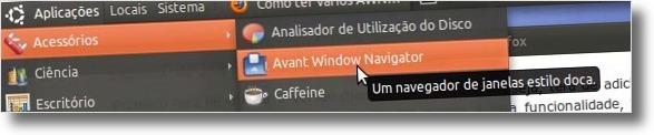 A abrir AWN no Ubuntu