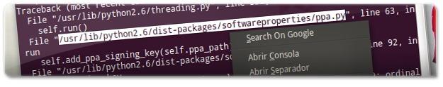 A procurar no google por um erro no terminal