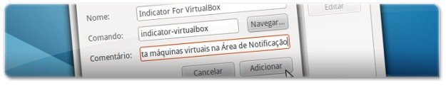 A adicionar o Indicator VirtualBox ao arranque do Ubuntu