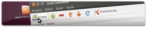 Depois de fazer as devidas modificações, tem de clicar no botão Gravar!