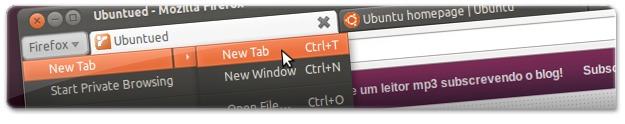 Firefox4 sem a barra de menus