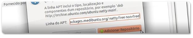 A adicionar o repositório do Medibuntu
