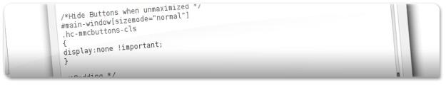 Código fonte do visual do Orta