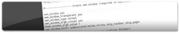 Configuração Conky organizada