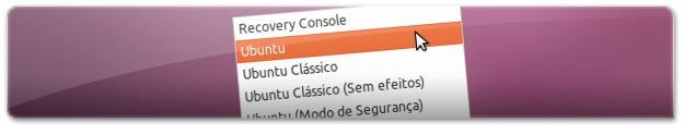 A escolher um dos gestores de janelas do Ubuntu