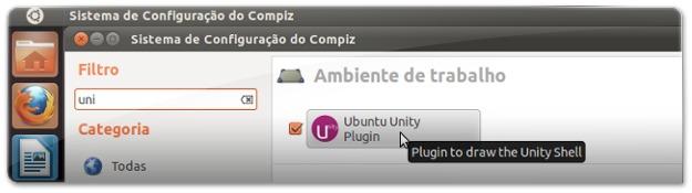 Opções do Unity no CCSM
