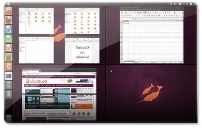 Unity2D a mostrar as áreas de trabalho
