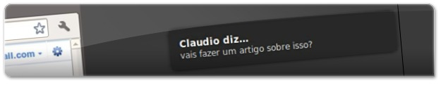 Notificação de conversa no Google Talk