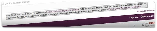 O Forum do Ubuntued não tenho o intuito de substituir o forum do Ubuntu BR!