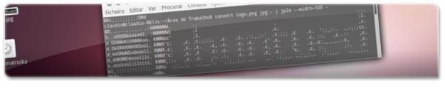 Ubuntued em ASCII mas com poucos caracteres por linha!