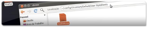 A aceder à respectiva pasta do Chromium