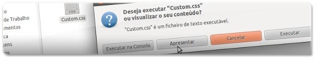 A abrir o ficheiro de configuração