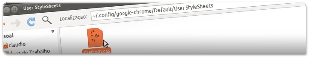 A aceder à pasta do Google Chrome