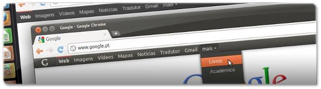 Diferenças entre o menu da Google original e o alterado