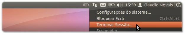 A terminar a sessão no Ubuntu 11.10 Oneiric Ocelot