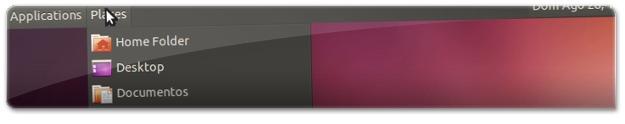 Menu clássico do Utuntu Clássico no Ubuntu 11.10 oneiric Ocelot