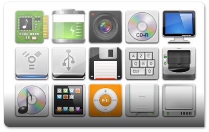 Cada dispositivo tem o seu ícone personalizado!