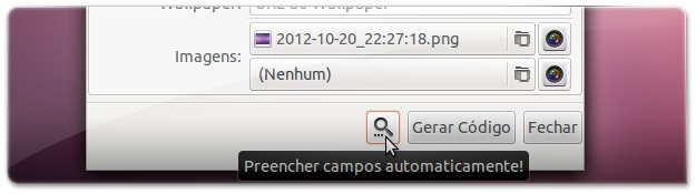 Ubuntued-Deskmod - A preencher automaticamente os dados