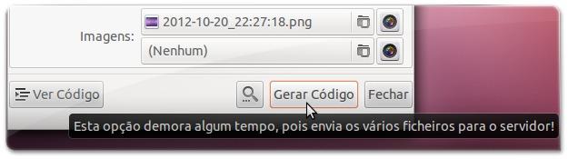 Ubuntued-deskmod com o código gerado