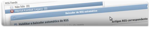 Download automático através de RSS's