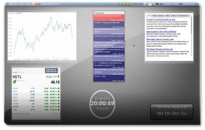Google Gadgets a mostrar informação financeira