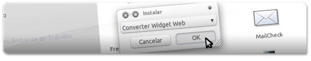 Converter Widget Web (Google Gadget) numa Screenlet