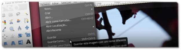 A fazer uma cópia de segurança da imagem a alterar no gimp no Ubuntu