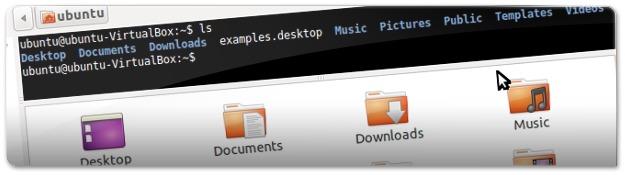 Terminal embutido no explorador de ficheiros