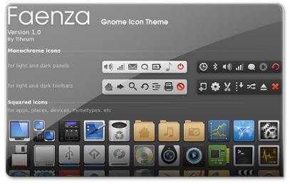 Os ícones da barra do Ubuntu são mono-cromáticos