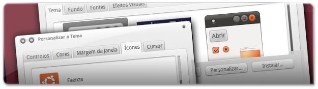 A definir o tema de ícones Faenza