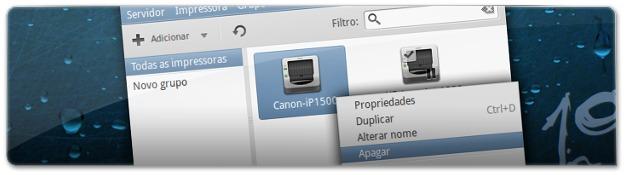 A remover impressora que não está corretamente instalada