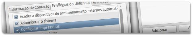 A dar permissão de configuração de impressoras ao utilizador