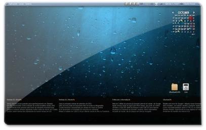 Conky num monitor com resolução 1366x768