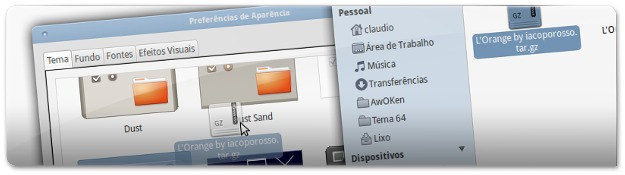 A instalar o Tema do Ubuntu