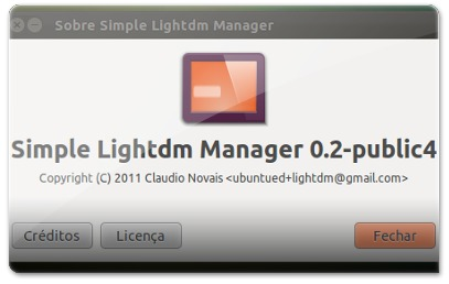 Acerca do Simple lightDM ManagerManager