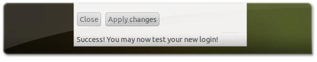 A Aplicar novas configurações de login do Ubuntu
