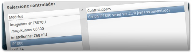 Lista de modelos de impressoras da marca Canon