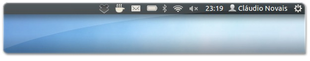 Ubuntu com nome na barra superior