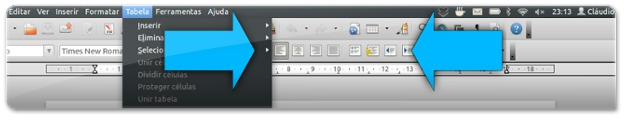 Os menus do Unity ocupam espaço para a direita; os ícones dos programas ocupam espaço para a esquerda