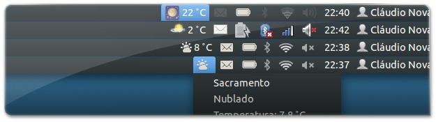 Indicador de clima com temperatura