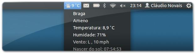 Indicador do Clima para o Ubuntu