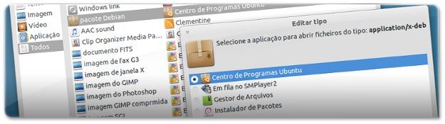 6 - Ubuntu Tweak a trocar tipo de ficheiroM