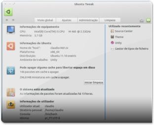 Ubuntu-Tweak - Visao GlobalM